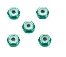 타미야,95424,TAMIYA, 2mm Alu Lock Nut Green 5
